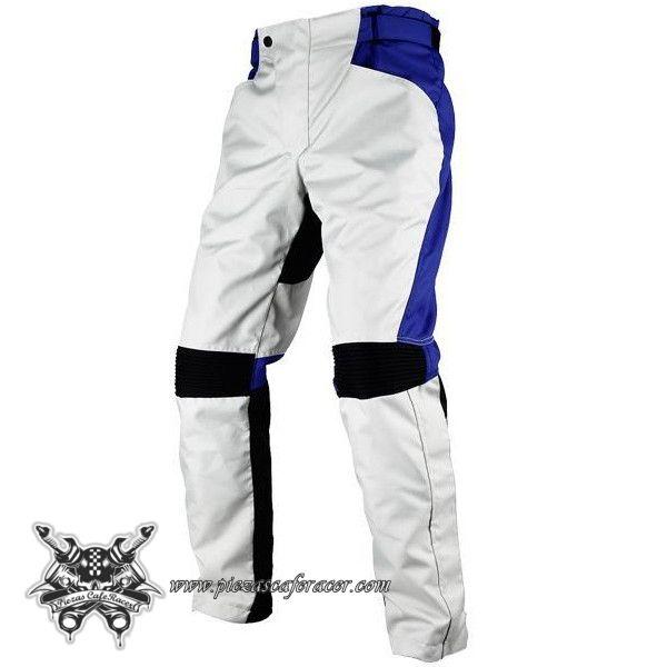 Pantalón Piloto de Moto Para Circuito Estilo GP con Protecciones en Rodillas Color Azul/Blanco - 85,33€ - ENVÍO GRATUITO EN TODOS LOS PEDIDOS