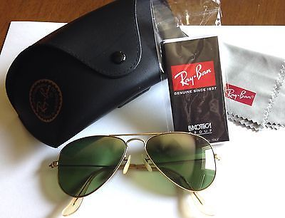 VINTAGE B&L Ray Ban 1/10 12K GF Aviator Sunglasses Gradient Mirror With NEW Case