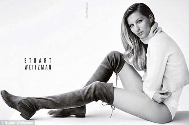 The 33-year-old supermodel has posed pantsless for luxury shoe brand Stuart Weitzman's latest campaign