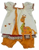 Hooligans Kids Clothing Giraffe Bloomer Set
