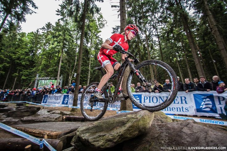 Annika Langvad (@iamspecialized ) on the Rock N Roll section during the opening round of the UCI Mountain Bike World Cup - #ilovegirlriders #iamagirlrider #ilgr #girlriders #annikalangvad #ucimtbworldcup #uci #mtb #worldcup #novemesto