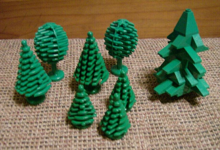 Vintage Lego tree assortment