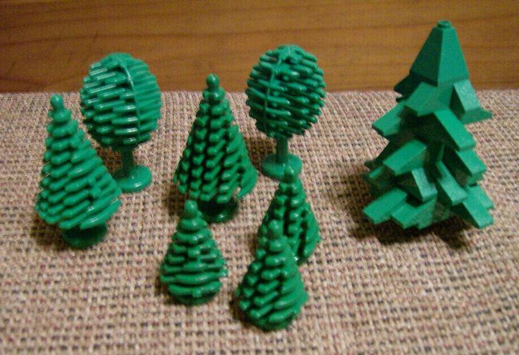 Vintage Lego tree assortment