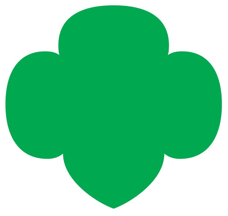 trefoil shape | Girl scout logo, Girl scout troop, Girl ...