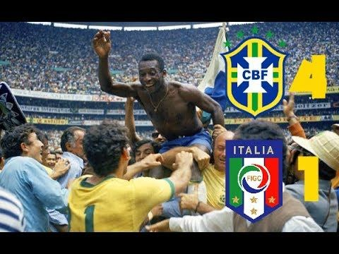 Brasil 4 vs Italia 1 - FINAL COPA MUNDIAL MEXICO 1970 la consagracion de...