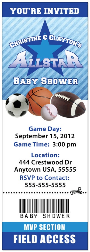 Did Some Editing To Create This Coupleu0027s Shower Invite. Find This Pin And  More On Sports Themed Invitations ...