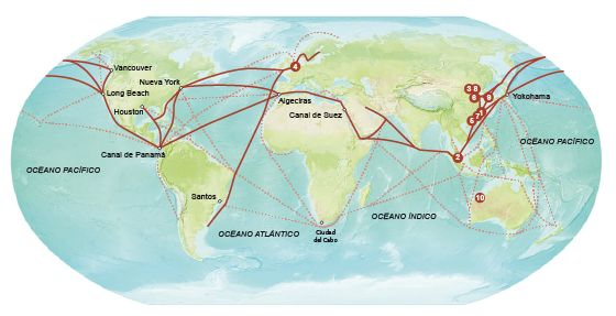 Transporte marítimo: Cinco navieras mueven el mundo | Economía | EL PAÍS