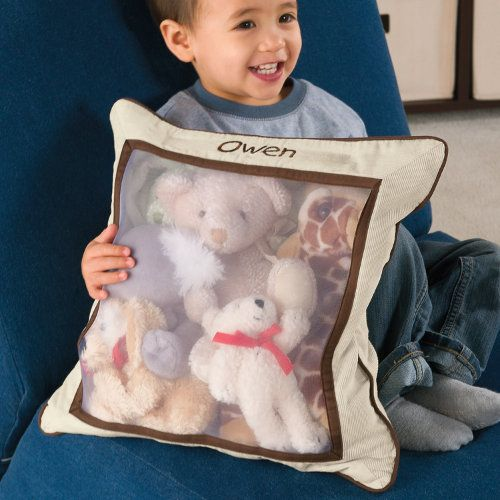 Kids' Stuffed Animal Storage Pillow.  Possible solution to Eva's toy-tastrophe.