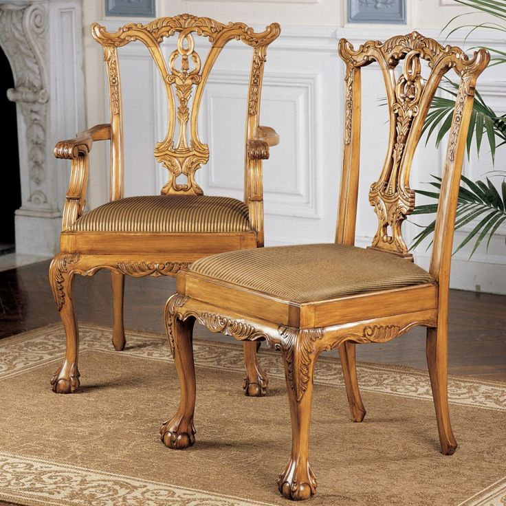 Features:  -Set includes 2 armchairs and 4 side chairs.  -Hand upholstered.  -Design Toscano exclusive.  -English collection.  Frame Finish: -Pine.  Frame Material: -Wood.  Seat Frame Material: -Wood.