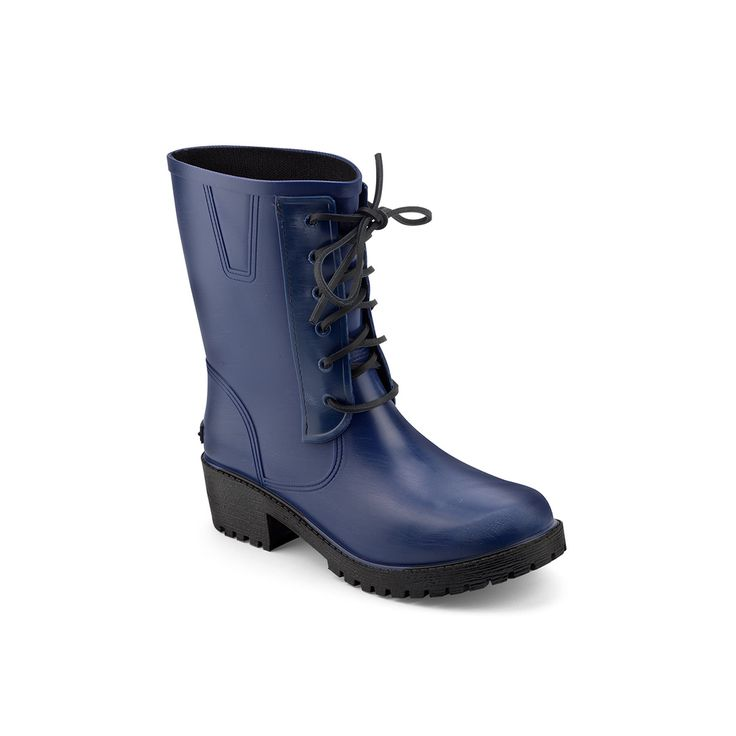 Brushed biker boot in mat pvc with laces in leather and rubber label