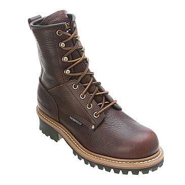Carolina Logger Boot Dark Brown Soggy Leather