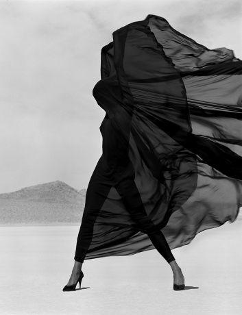 Versace-Veiled Dress, El Mirage, 1990. Herb Ritts, Edwynn Houk Gallery