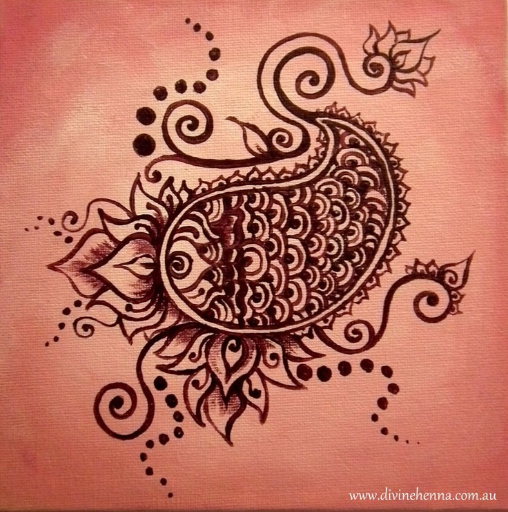 Mehndi For The Inspired Artist : Water baby cute henna design inspired painting with pink