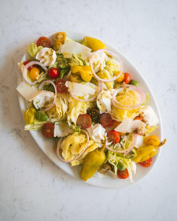 Italian Salad with Iceberg Lettuce, Tomatoes and ...