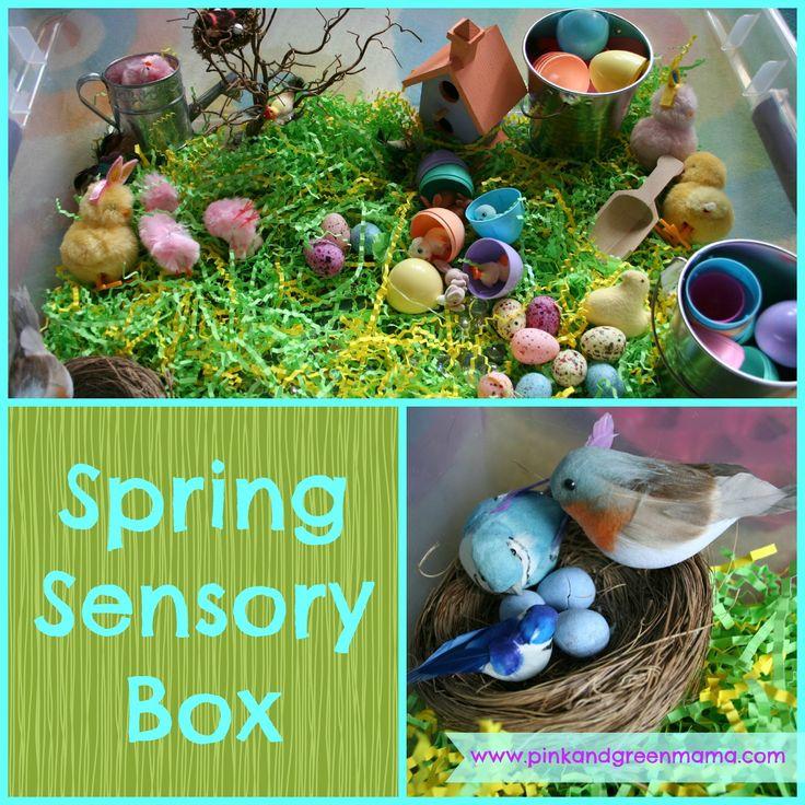 Pink and Green Mama: * Preschool At Home: Spring Sensory Box