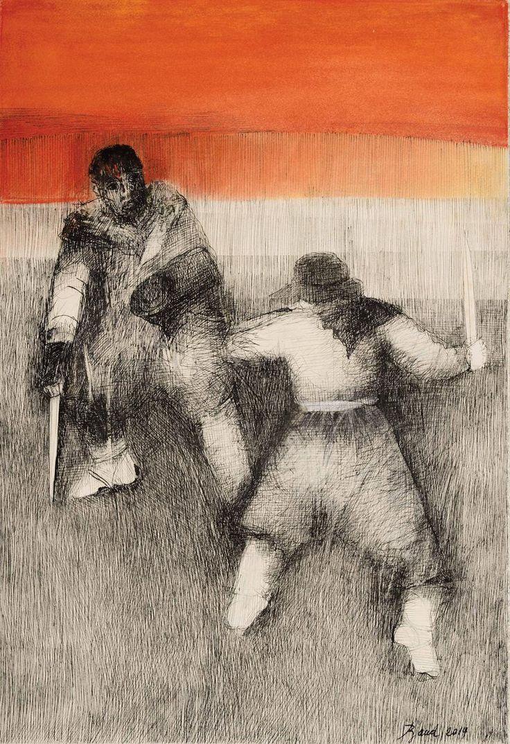 MARTÍN FIERRO, Le coloriaron las motas con la sangre de la herida,  Artista Rosenell Baud. http://www.ellibrototal.com/ltotal/ficha.jsp?t_item=6&id_item=70069