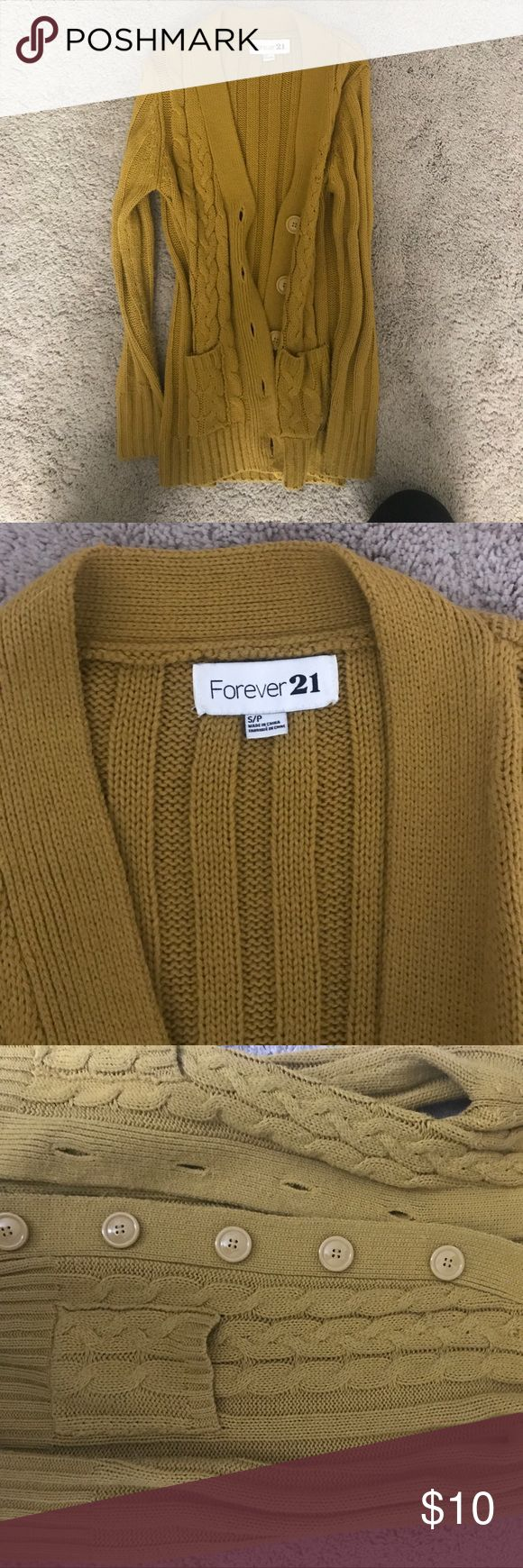 Forever 21 mustard cardigan | Mustard cardigan, Forever 21 and ...