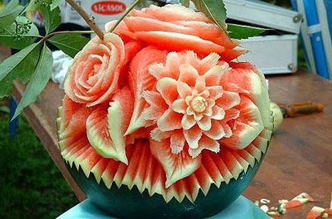 Didn't know a watermelon could look like rose