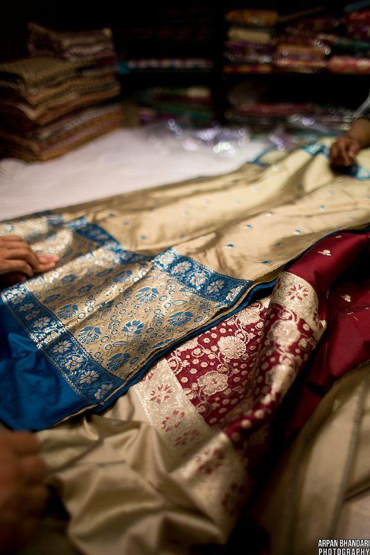 Silk sarees (saris), India