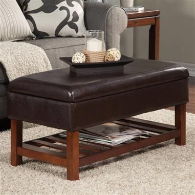 Espresso leather like vinyl upholstered bedroom ottoman bench dark brown  wood frame. 252 best Benches images on Pinterest   Bedroom benches  Storage