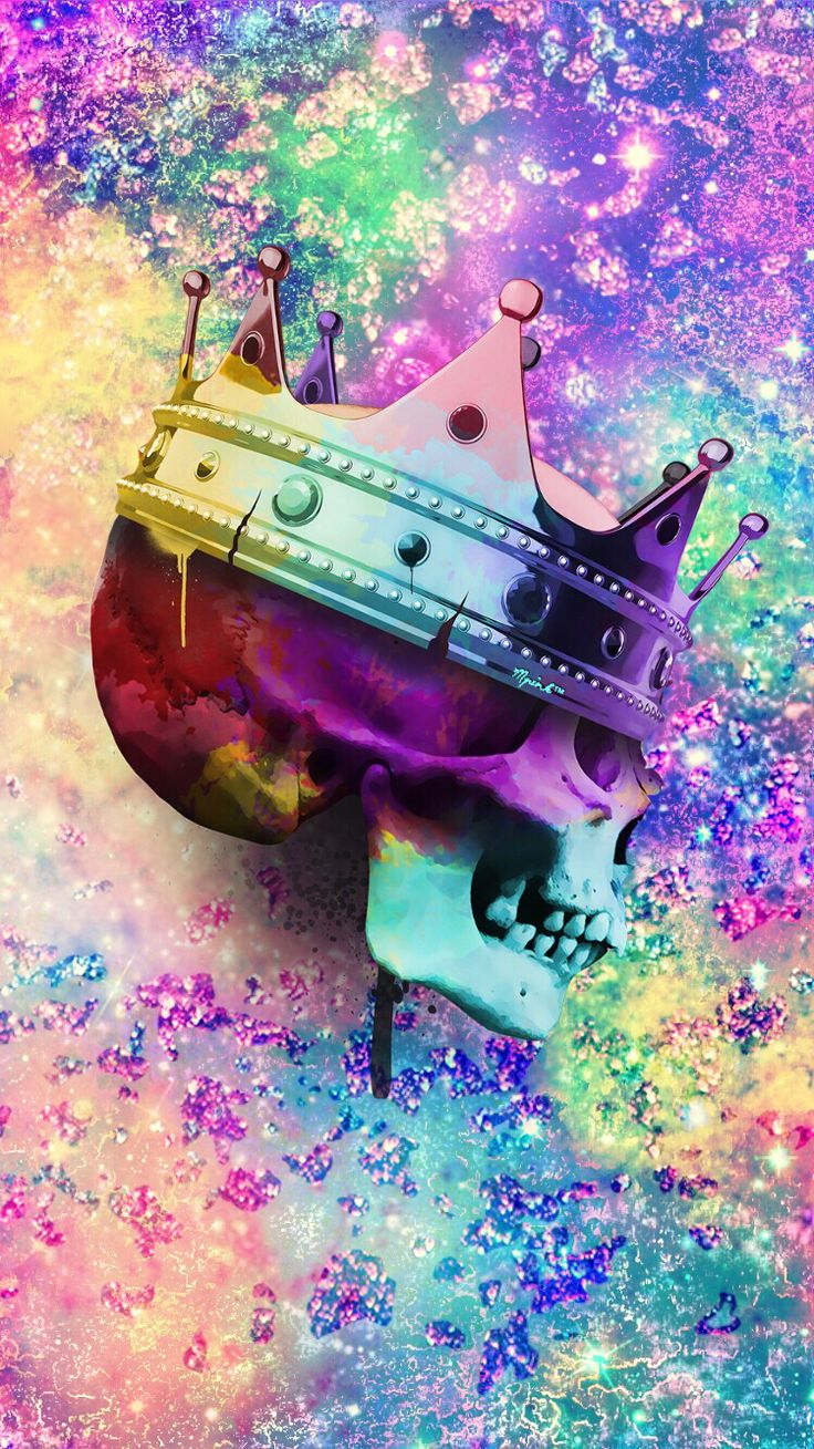 Skull Crown Galaxy Wallpaper/Lockscreen Girly, Cute