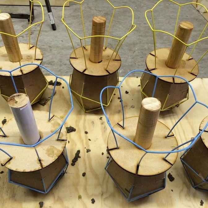 Productie van Oma's Lampje van ontwerpster Nathaly Heesakkers