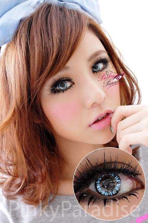 Prescription Princess Pinky Twilight Blue Circle Lenses (Colored Contacts)