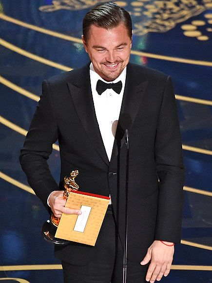 Finally! Leonardo DiCaprio Wins Best Actor Oscar amid Tears and a Standing Ovation http://www.people.com/people/package/article/0,,20985752_20990455,00.html