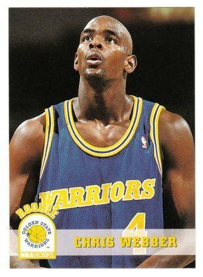 Chris Webber RC # 341 - 1993-94 Skybox Hoops Basketball NBA Rookie