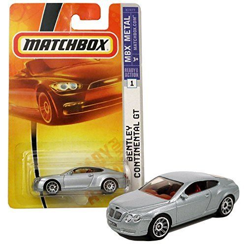 Matchbox Year 2007 MBX Metal Ready For Action Series 1:64 Scale Die Cast Metal Car #1   Silver Color Luxury Coupe BENTLEY CONTINENTAL GT K7477. #Matchbox #Year #Metal #Ready #Action #Series #Scale #Cast #Silver #Color #Luxury #Coupe #BENTLEY #CONTINENTAL