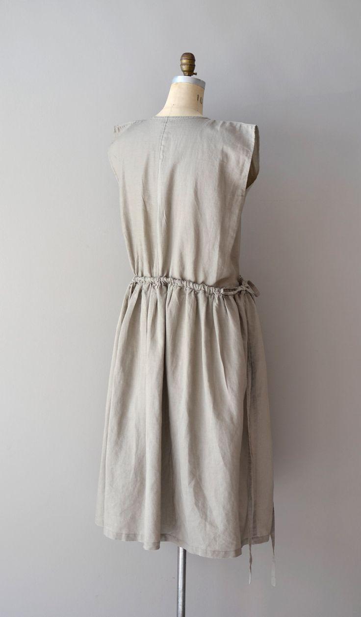 vintage sack dress / linen dress  / Oyster tent dress.