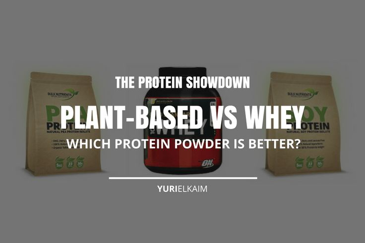 I mainly use protein powder when I can't make a healthy, whole food meal or when I want to add more protein to my snacks to make them more filling. Now the two big hitters when it comes to protein powder are plant-based (pea, soy, hemp, etc.) and whey protein. But what's the difference between the them? And which ones will give you a boost of nutrition without unwanted negative side effects? Head to the blog for the answers. | Yuri Elkaim