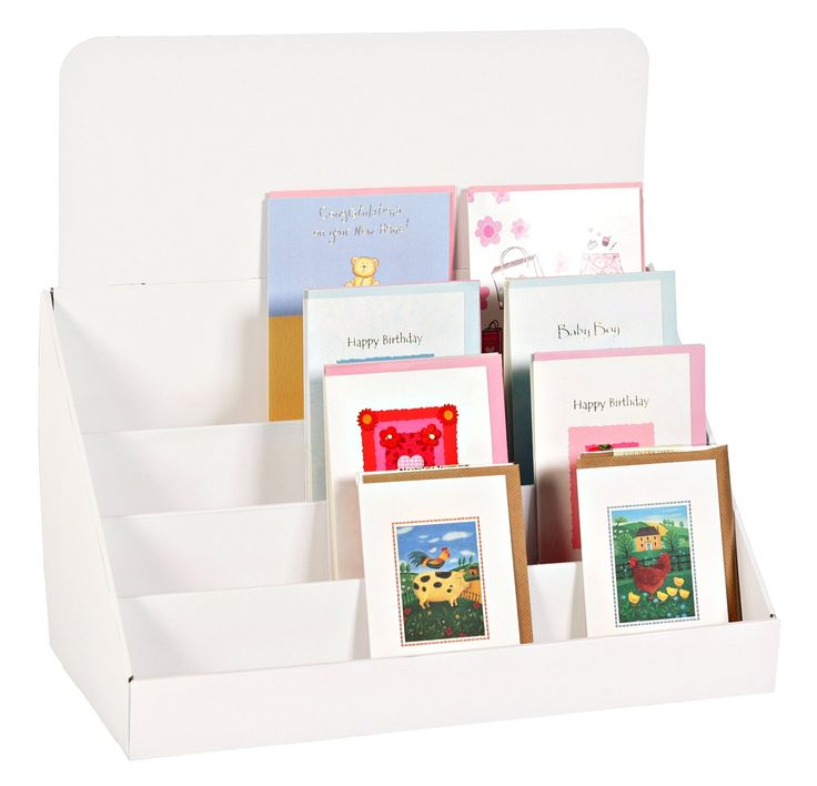 """Amazon.com : 18"""", Cardboard Greeting Card Display Stand : Office Products"""