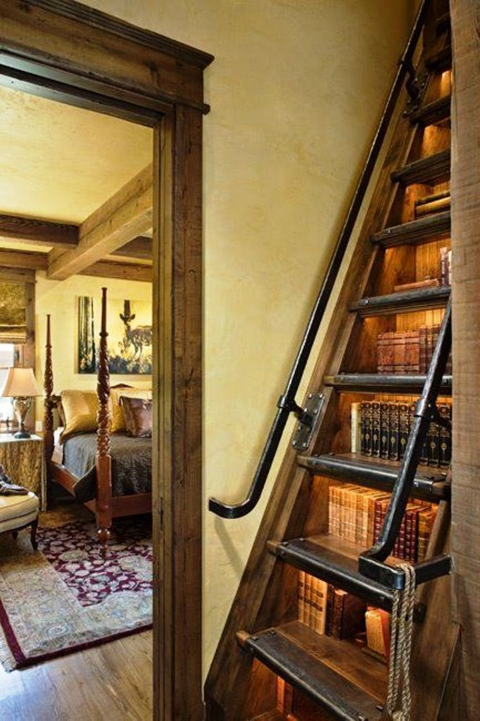 bookcase staircase homecoolness pinterest. Black Bedroom Furniture Sets. Home Design Ideas
