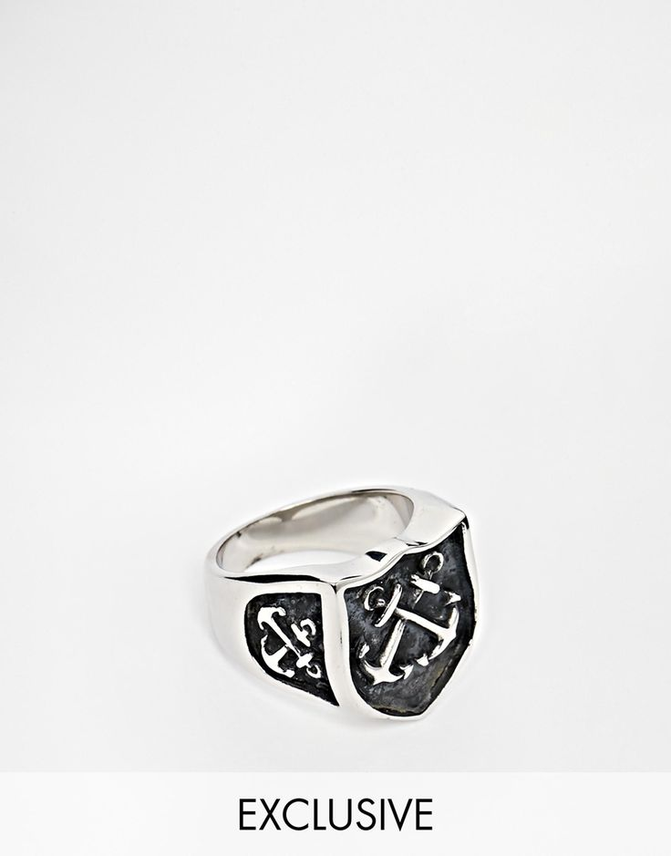 Image 1 ofReclaimed Vintage Anchor Shield Ring