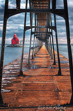 Sturgeon Bay Ship Canal Lighthouse Door County, WI, USA