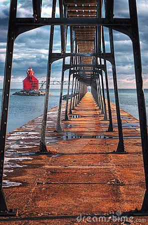 Sturgeon Bay Ship Canal Lighthouse Door County, WI, USA