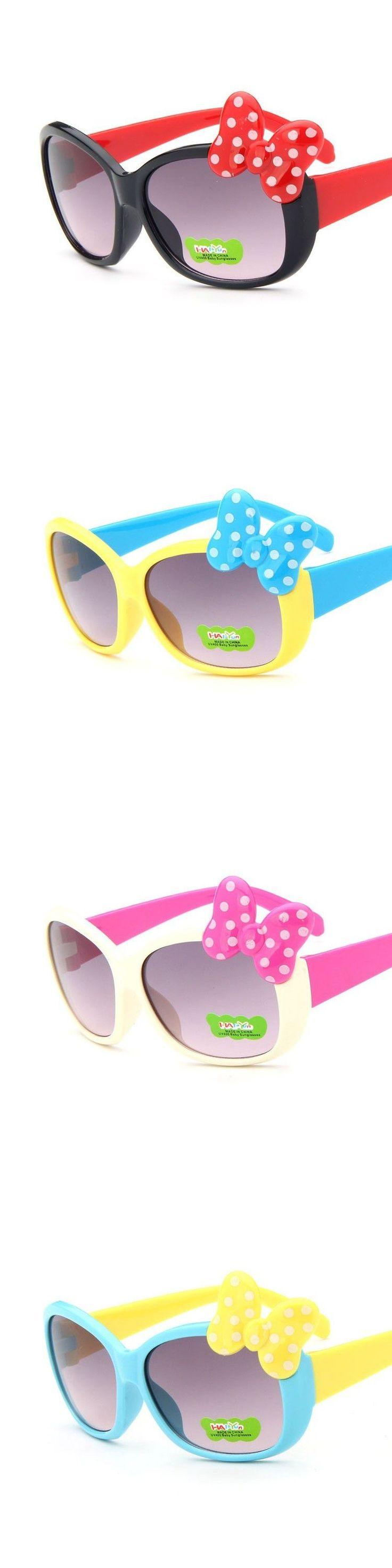 2016 New Fashion Trend Baby Kids Sunglasses UV Protection Bowknot Cosy Frame Summer Style Brand Designer Eyewear Glasses_SH314