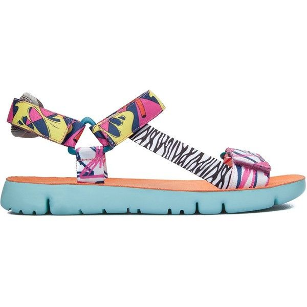 Camper Women's Oruga Flip Flop ($56) ❤ liked on Polyvore featuring shoes, sandals, flip flops, camper footwear, camper sandals and camper shoes