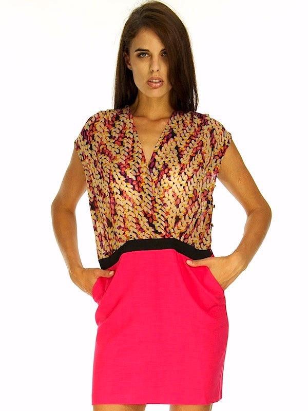ALICE PINK PATTERN DRESS