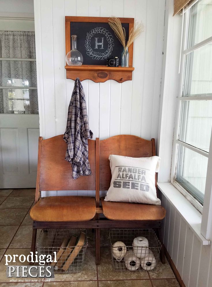 Antique Theater Church Seats with Refreshed Wood Technique by Prodigal Pieces | ...