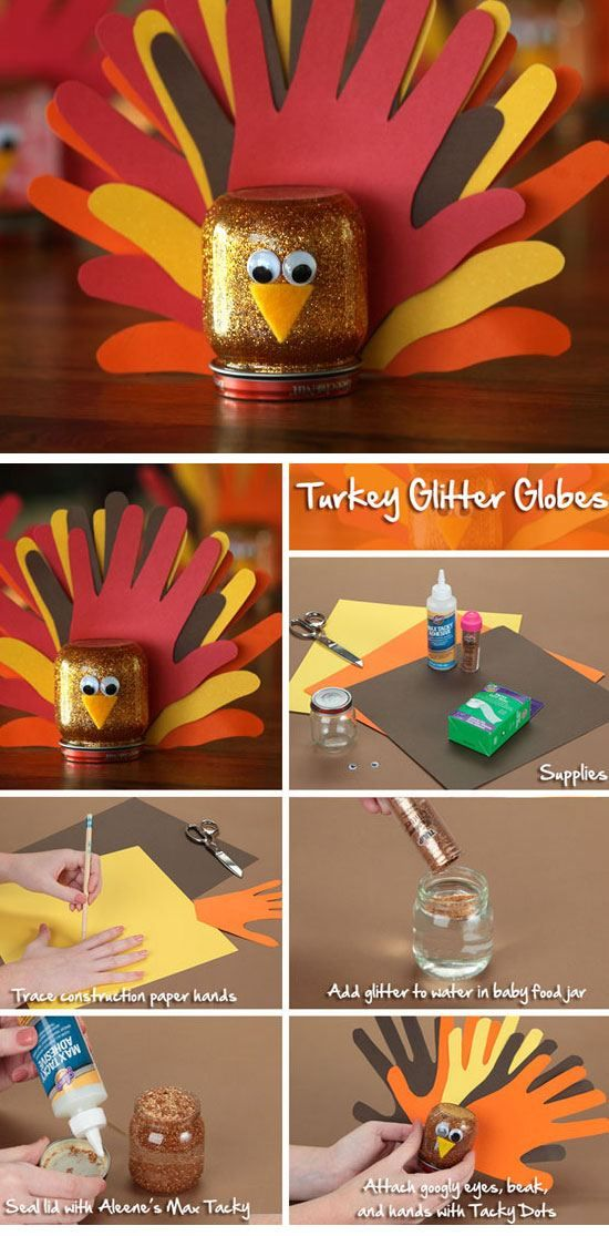 Gobble Gobble Globes | Click for 30 DIY Thanksgiving Crafts for Kids to Make | Easy Thanksgiving Crafts for Toddlers to Make