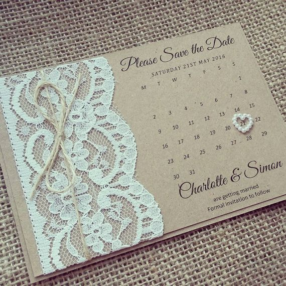 Sample // Rustic Lace Save the Date