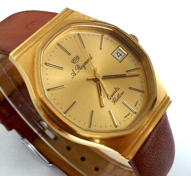 Reloj Caballero A REYMOND QUARTZ FLATLINE 423026 Oiginal 34mm ETA 955-111