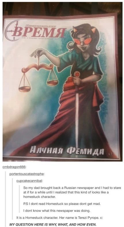 i dont give a shit about russian. give me the dogdamned paper.<<<Oh my gosh Terezi