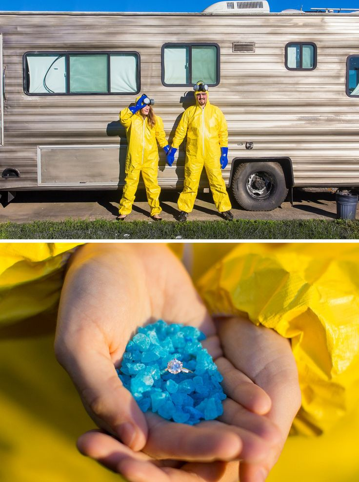 Breaking Bad Engagement Photos  I'm just saying I want my husband to do this more than anything.