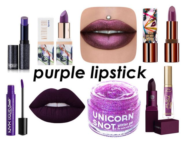 """purple lips"" by krystalina123 ❤ liked on Polyvore featuring beauty, Too Faced Cosmetics, FCTRY, Teeez, Lipstick Queen and Charlotte Russe"