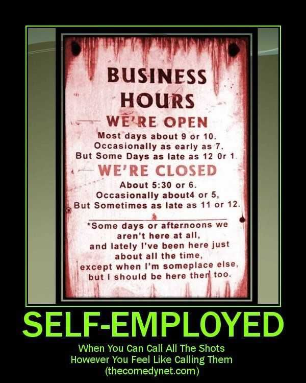Funny Business Hours Sign Visit to