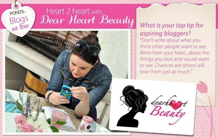 Our friend @dearheartbeauty.com shares her advice for aspiring bloggers. Do you like to write?
