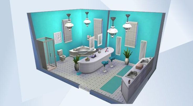 Check out this room in The Sims 4 Gallery! - #sims4#bathroom#stylish#unique#fun#cool#bright#decorated#designer#colourful